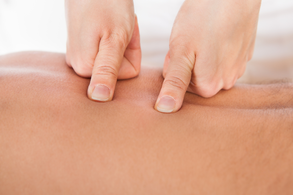 Shiatsu, a healing form of massage that facilitates the flow of energy within the body